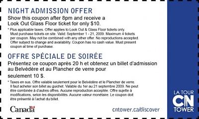 CN tower Coupon
