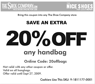 the shoe company 20% off coupon