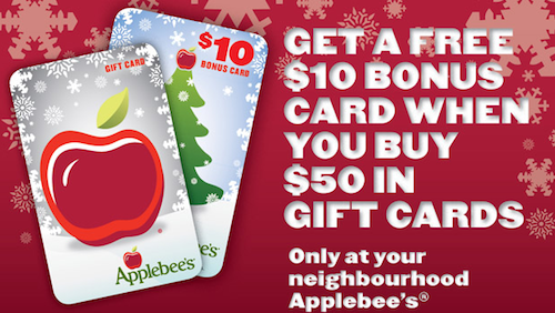 Applebees coupons canada
