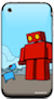 red robot iphone skin