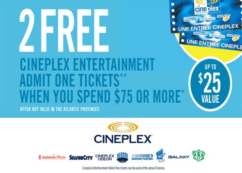 Cineplex Movie Tickets