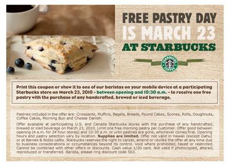 Starbucks Pastry