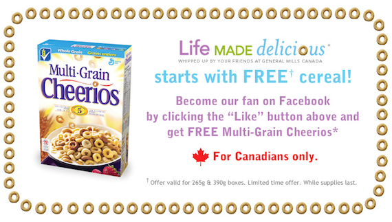 MultiGrain Cheerios Promo