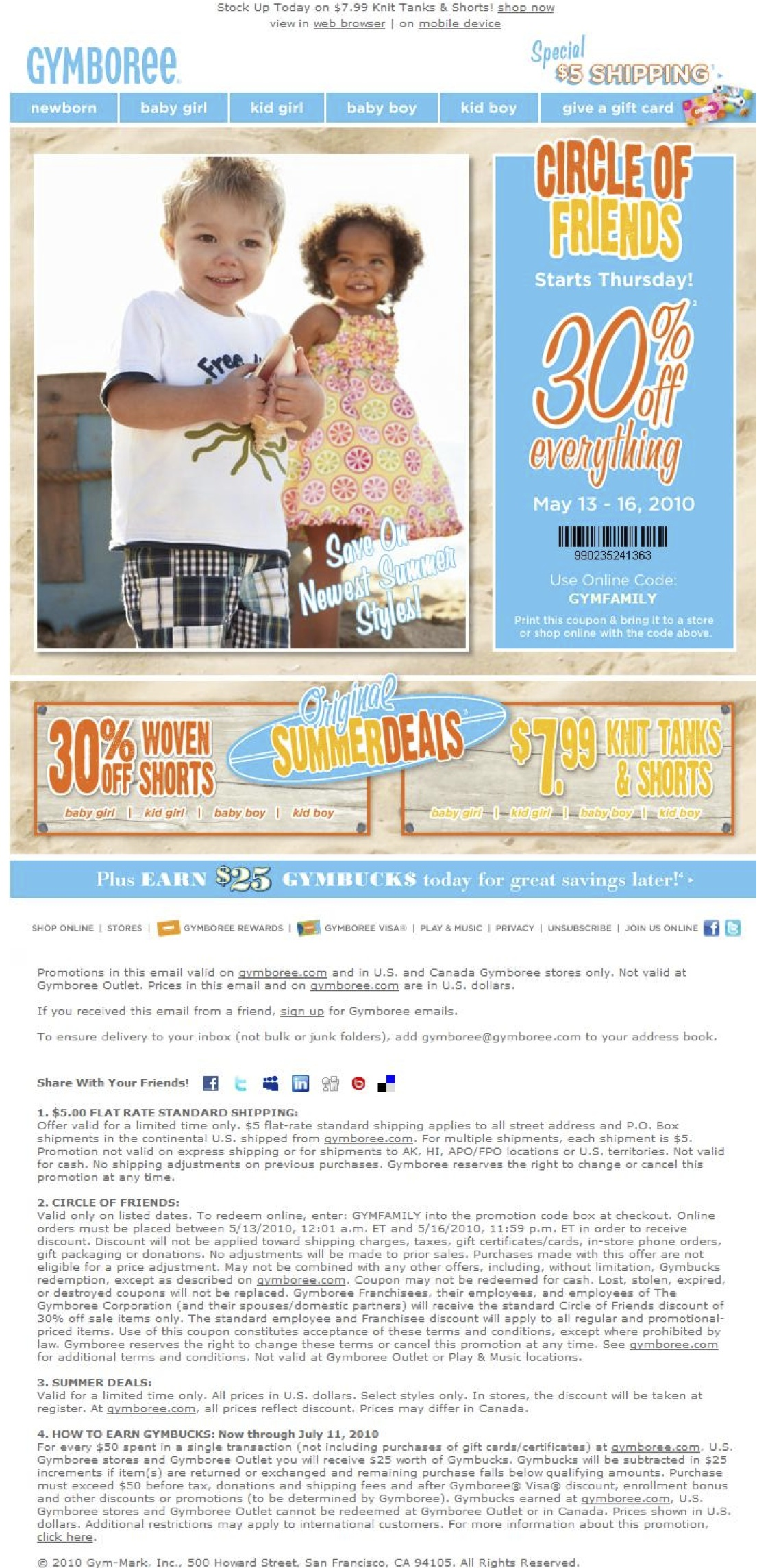 Gymboree outlet coupon