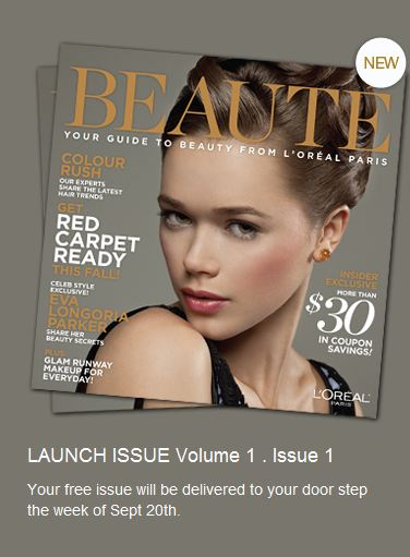 Loreal Paris New Magazine