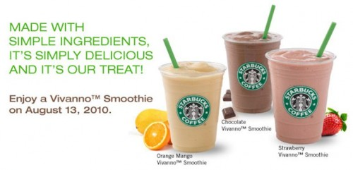 Starbucks Vivanno Smoothie