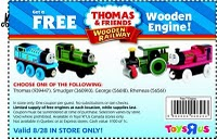 thomas the tank engine coupon