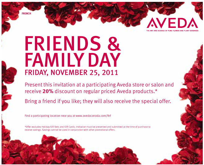 Aveda in store coupons