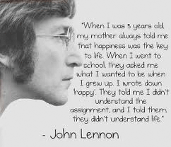 John Lennon quote as a kid