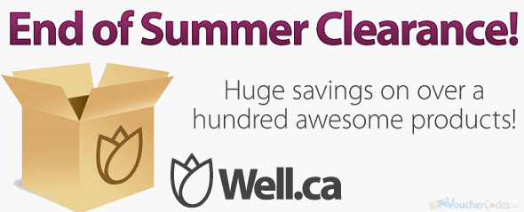 End of Summer Clearance at Well.ca