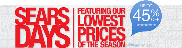 Up to 45% off Select items at Sears