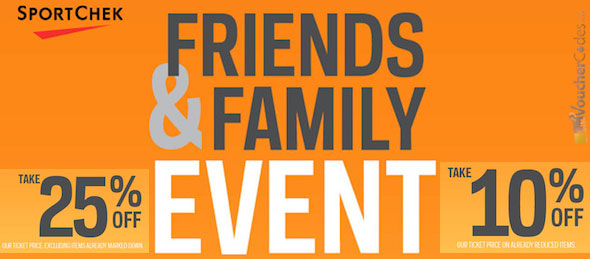 Sportchek Friends & Family Sale