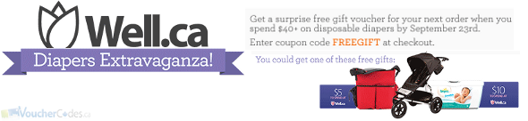 Free Gift Voucher at Well.ca