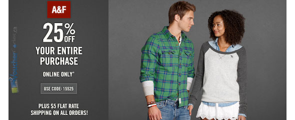 Abercrombie & Fitch 25% Off Promotion
