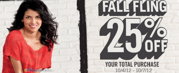 25% off at Aeropostale