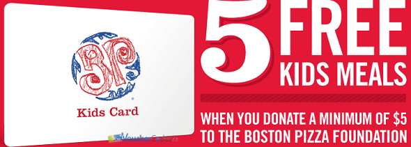 Boston Pizza Offer