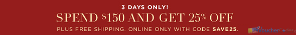 25% off your order of $150 or more at Club Monaco
