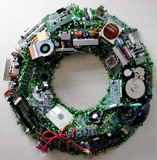 Computer Wreath