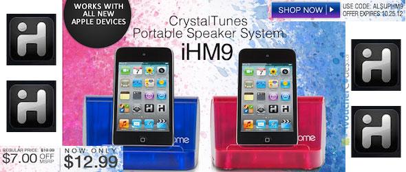 iHome CrystalTunes Promo