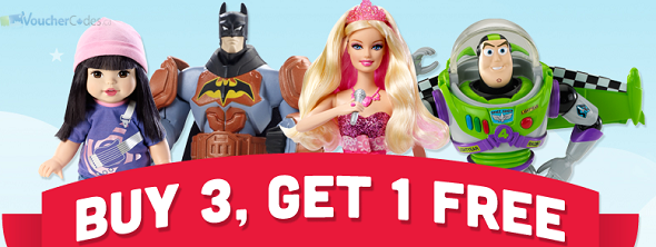 Buy 3 and get one free at Mattel