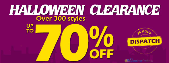 Save up to 70% off Halloween clearance at Milanoo