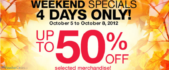 Up to 50% off at Sears