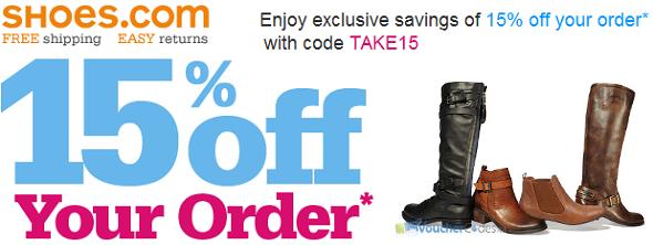 15% off at Shoes.com