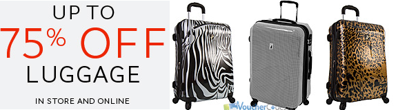 Up to 75% off luggage at the Bay