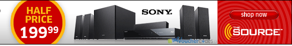 50% off a Sony Home Theater kit at The Source