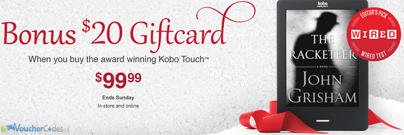 Free $20 gift card with kobo purchase
