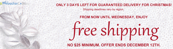 Free shipping with no minimum at Chapters