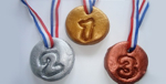 Make olympic medals at home for kids