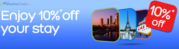 10% off your stay at Hotels.com