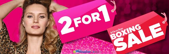 Buy one, Get one Free on Select Items at La Vie en Rose