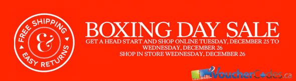 The Bay Boxing Day Sale