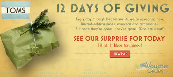 Toms.ca 12 days of Giving