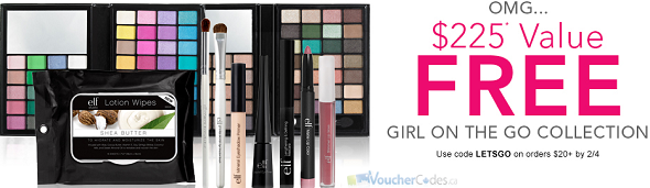 Free gift with purchase at E.l.f cosmetics