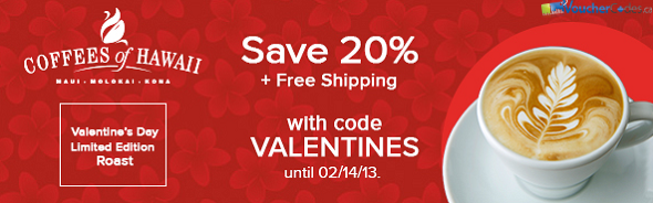 20% off at Coffees of Hawaii