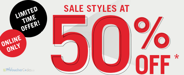 50% off select styles at Aldo shoes