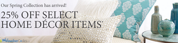 25% off select home decor items at Chapters Indigo