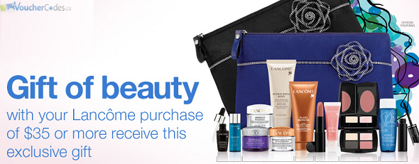 Free Lancome gift with Purchase from Sears Canada