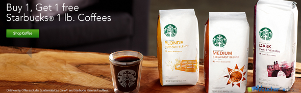 Buy one, get one free offer at Starbucks Canada