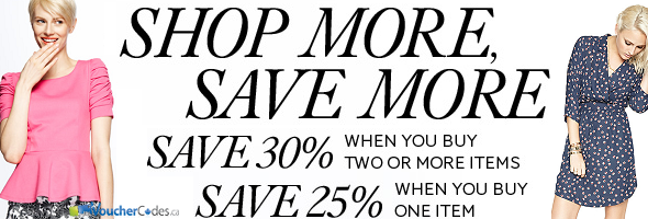 Up to 30% off select women's fashions at The Bay