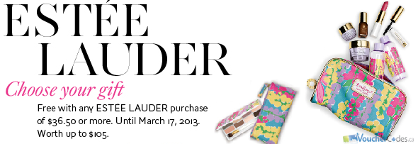 Free Estee Lauder Gift with Purchase at The Bay
