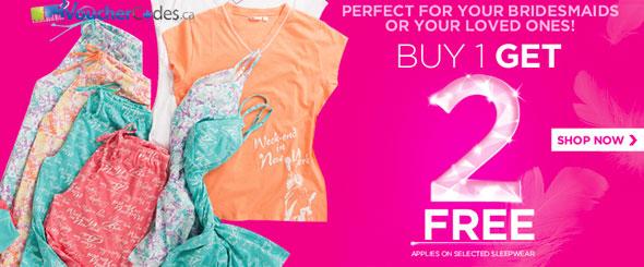 La Vie en Rose Buy 1 Sleepwear, Get 2