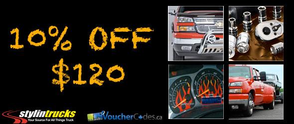 Save 10% Off $120 at Stylin Trucks