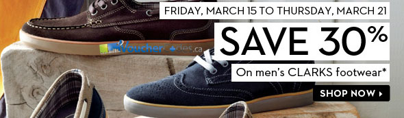 The Bay's 30% Off on Clark's Men's Shoes
