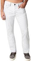 Mens Evan Basic White Jeans