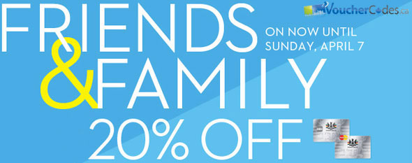Hudson's Bay Friends and Family Event