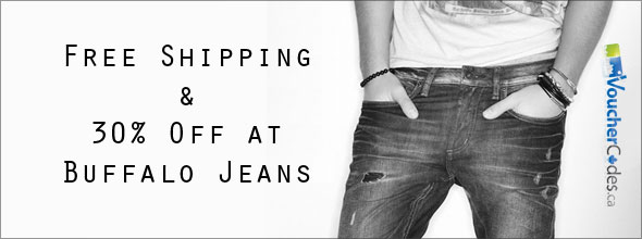Save 30% and Get Free Shipping at Buffalo Jeans